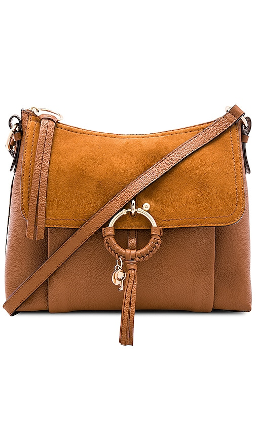 bdfc7701324c See By Chloe Joan Small Suede   Leather Shoulder Bag in Caramello ...