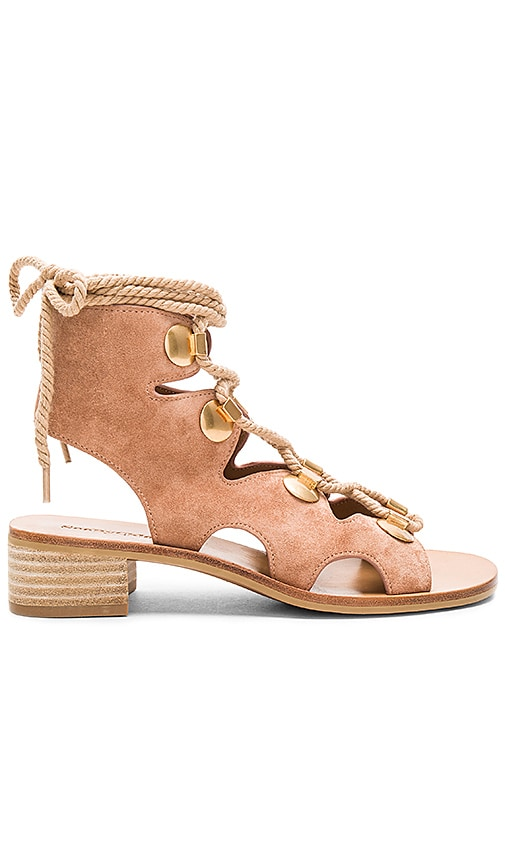 See By Chloe Lace Up Sandal in Tan