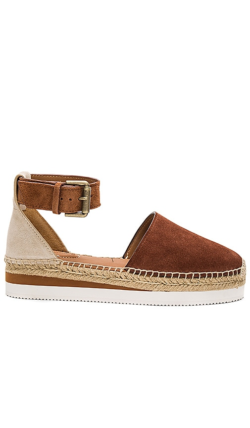 See By Chloe Ankle Strap Espadrille in Tan
