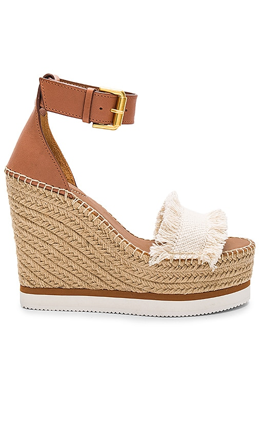 See By Chloe Frayed Wedge in Beige