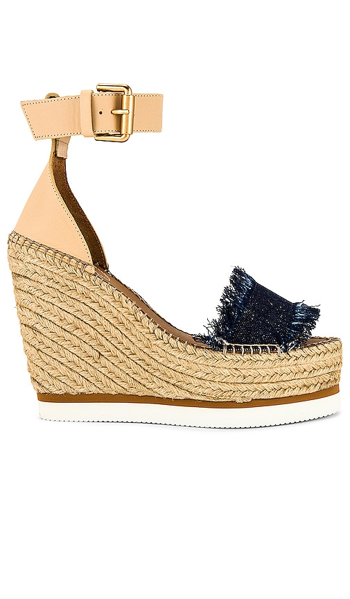 See By Chloe Frayed Wedge in Blue