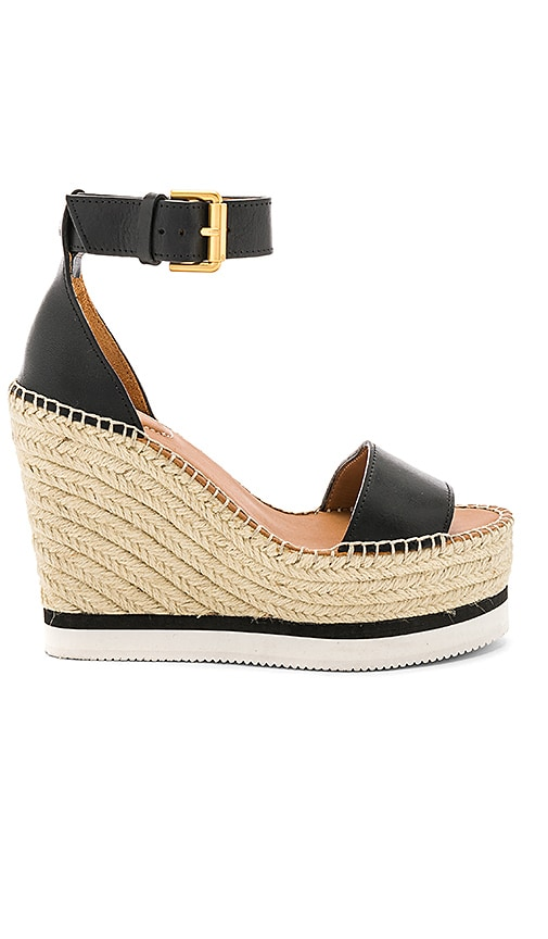 See By Chloe Glyn Wedge Sandal in Black