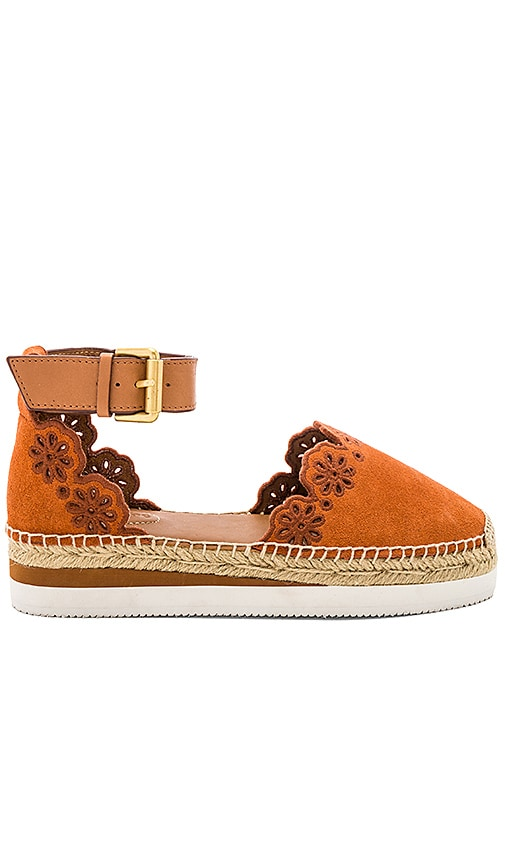 See By Chloe Glyn Espadrille Sandal in Burnt Orange