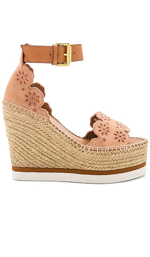 See By Chloe Glyn Wedge Sandal in Rose