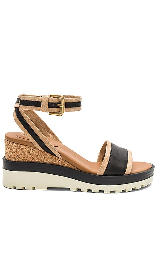 See By Chloe Colorblock Wedge in Brown
