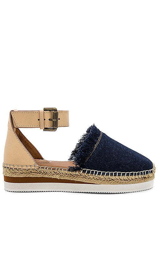 Glyn Flat Espadrille in Blue. - size 36 (also in 35,37,39) See By Chlo