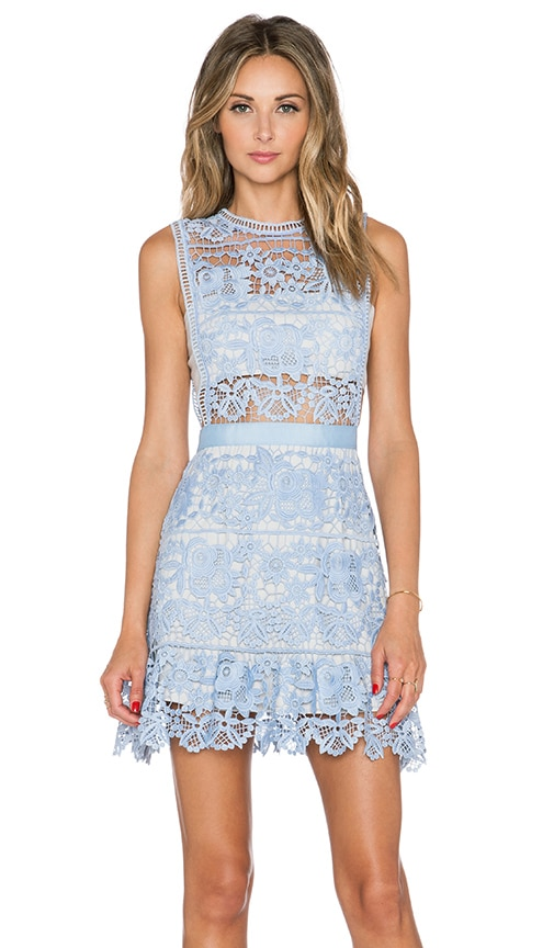 Lace Peplum Mini Dress