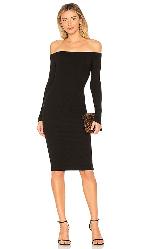 sen Dawn Off the Shoulder Dress in Black