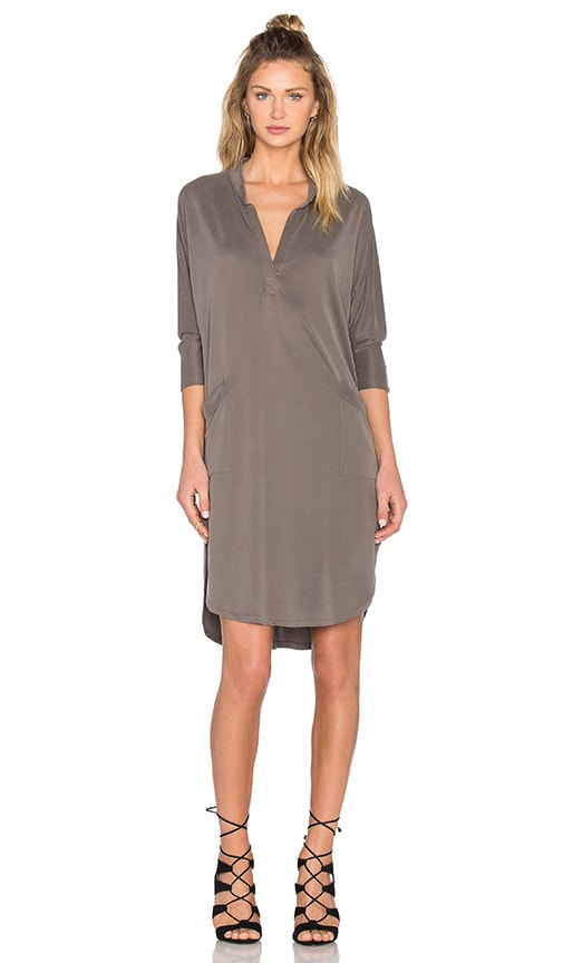 sen Baja Shirt Dress in Gray