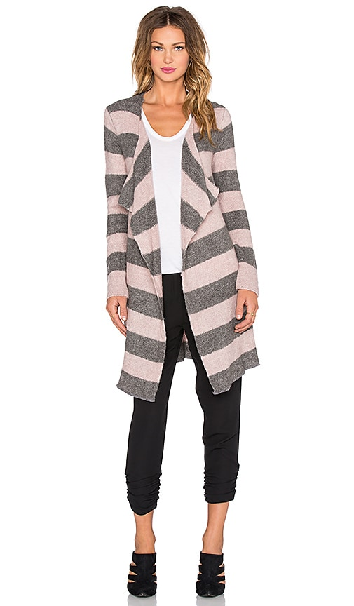 sen Melina Stripe Cardigan in Blush & Grey Stripe