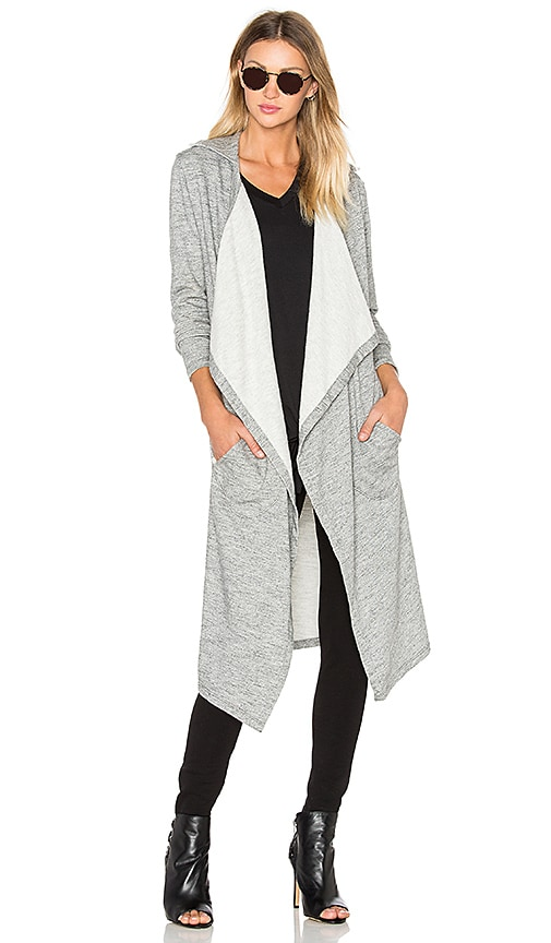 sen Atlas Trench Cardigan in Gray
