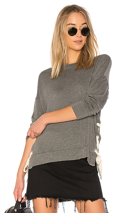 sen Inata Side Tie Sweater in Gray