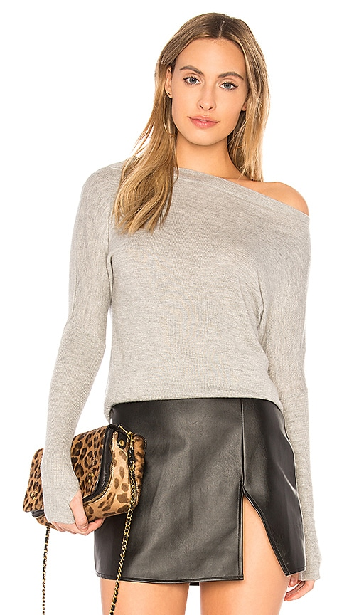 sen Cortina One Shoulder Top in Gray