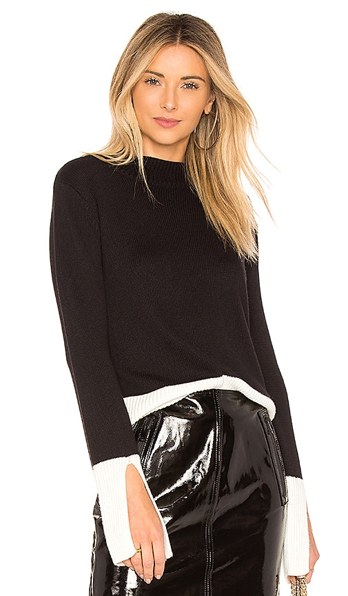 sen Keystone Colorblock Sweater in Black & White