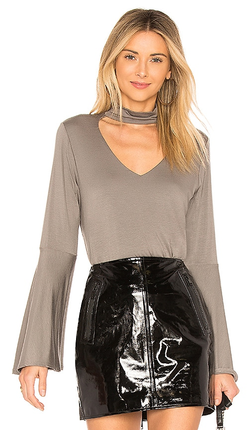 sen Livingston Exaggerated Sleeve Top in Gray