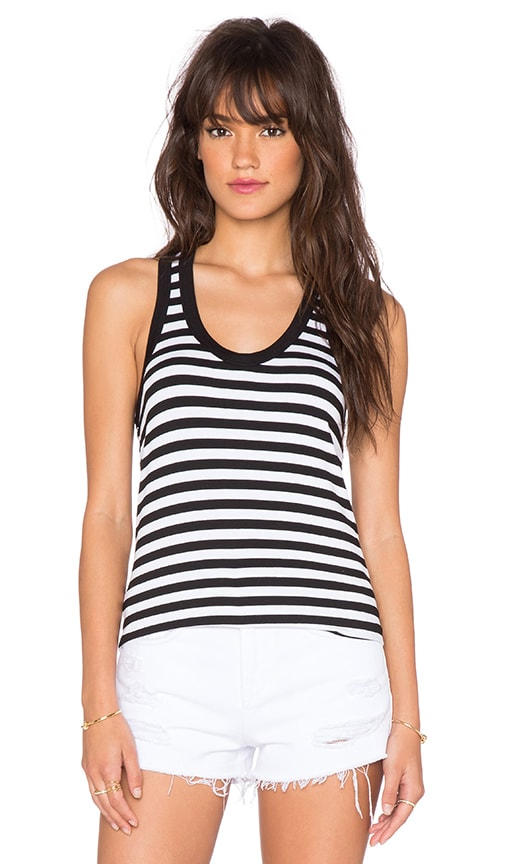 sen Hanna Tank in Black & White Stripe