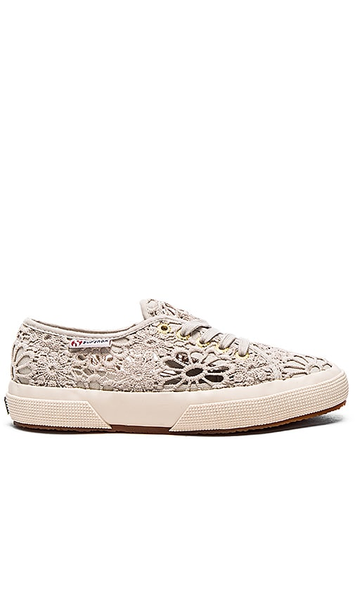 Superga 2750 Cot Macrame Sneaker in Taupe