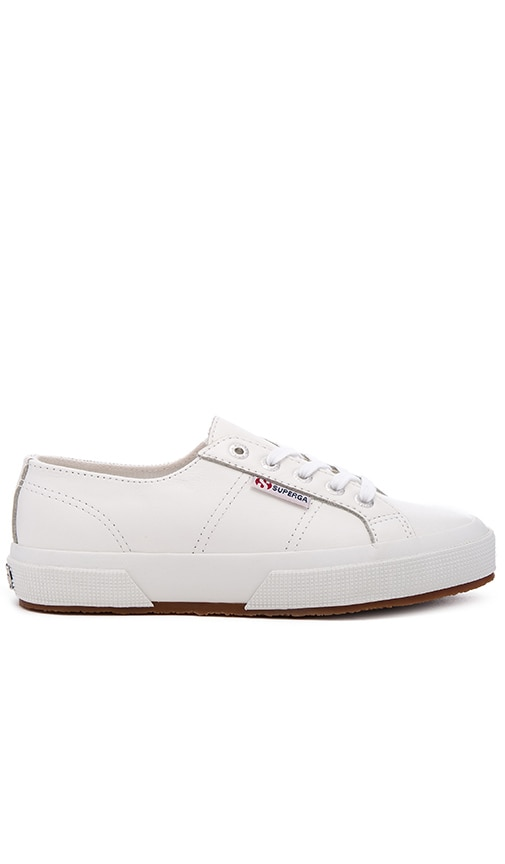 Superga 2750 Cotu Classic Leather Sneaker in White