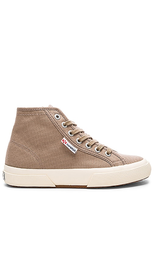 Superga 2095 Cotu High Top Sneaker in Taupe