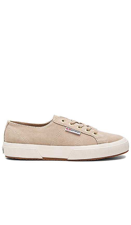 788c81ef761a9 Superga 2750 Sueu Sneaker in Sand With Gold Eyelets | REVOLVE