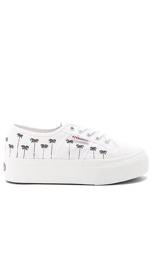 Superga 2790 Palm Tree Sneaker in White