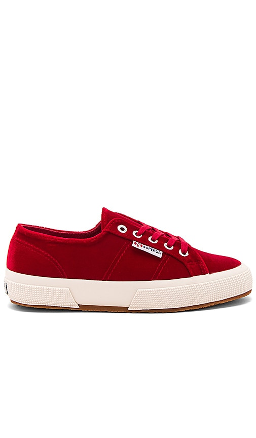 Superga 2750 Velvet Sneaker in Red