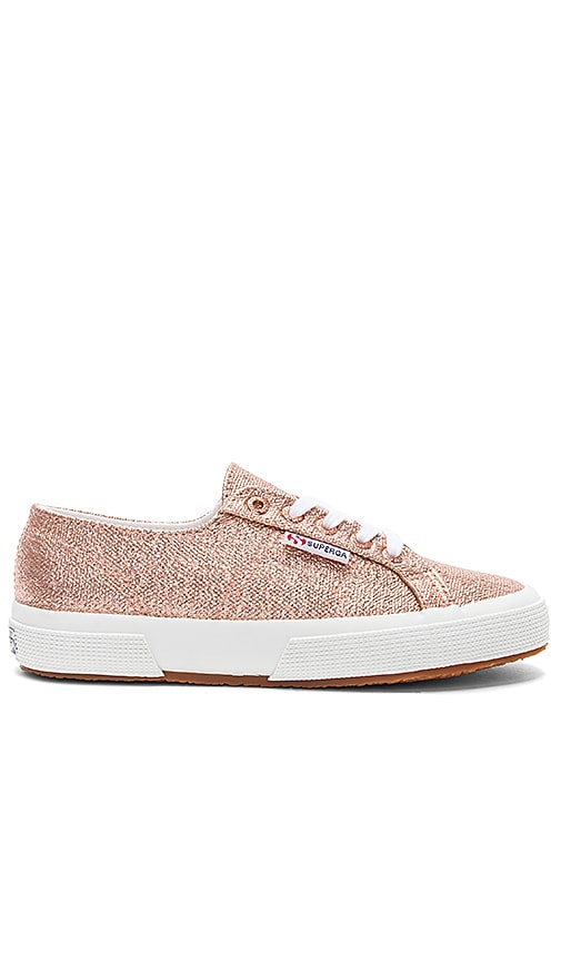 Superga 2750 Metallic Sneaker in Metallic Gold