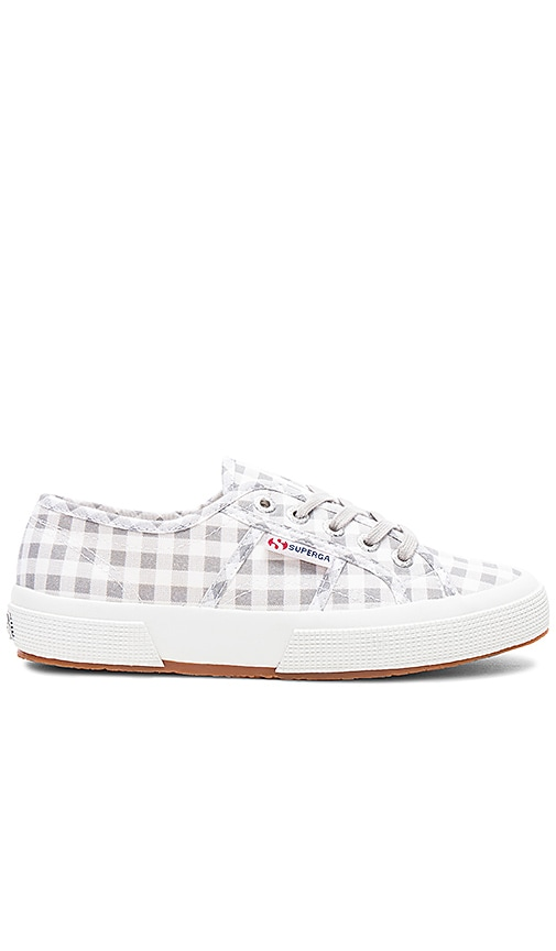 Superga 2750 Gingham Sneaker in Light Gray