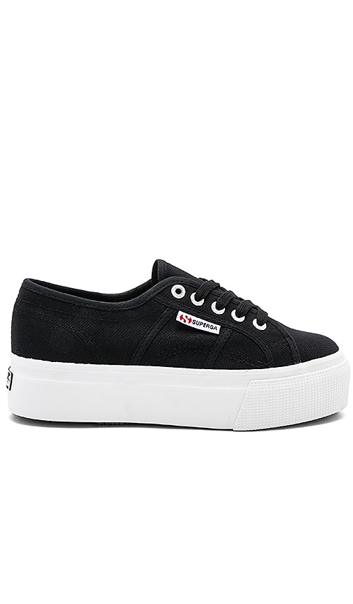 Superga 2790 Platform Sneaker in Black