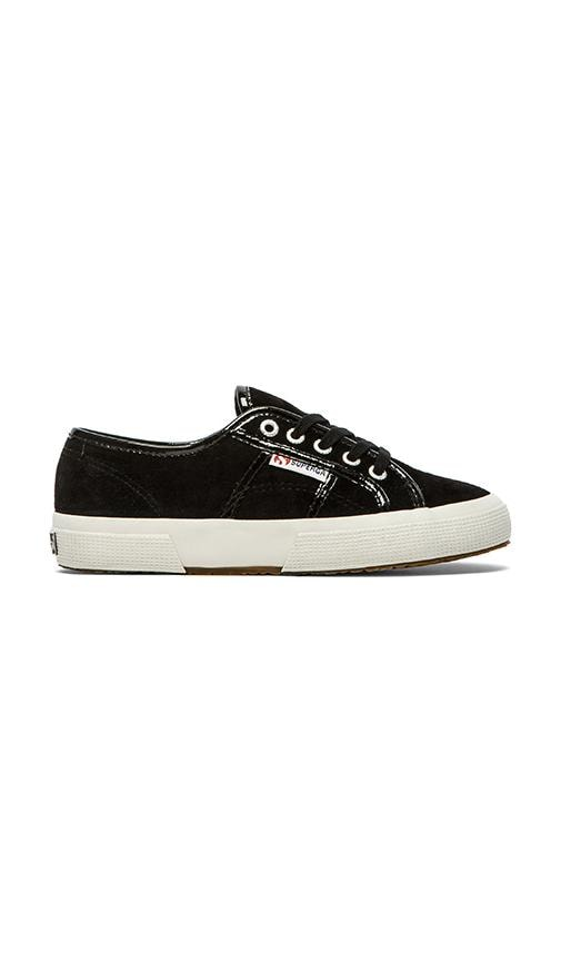 Suede Patent Sneaker
