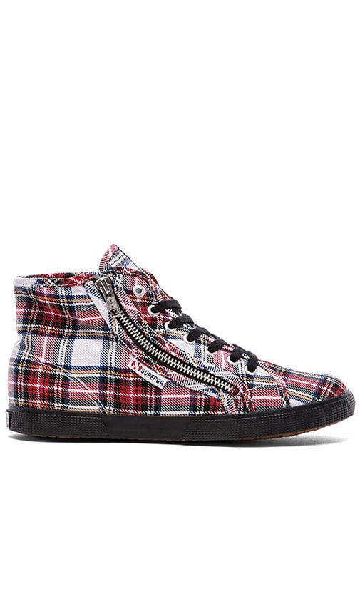 7c07af0ce399 Superga Tartan Plaid Hi Top in Off White Multi