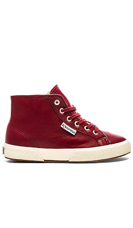 Superga Nappa Hi Top Sneaker in Red