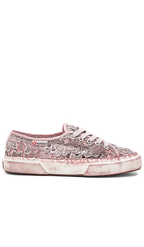Superga Macrame Dyed Sneaker in Vinaccia