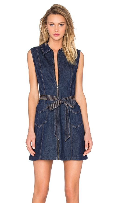 7 For All Mankind Denim Dress in Saint Tropez
