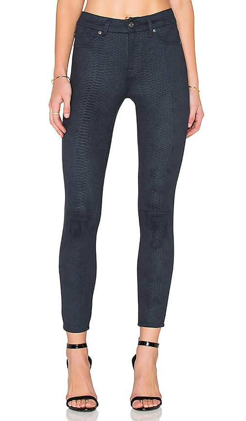 7 For All Mankind High Waist Ankle Skinny in Blue