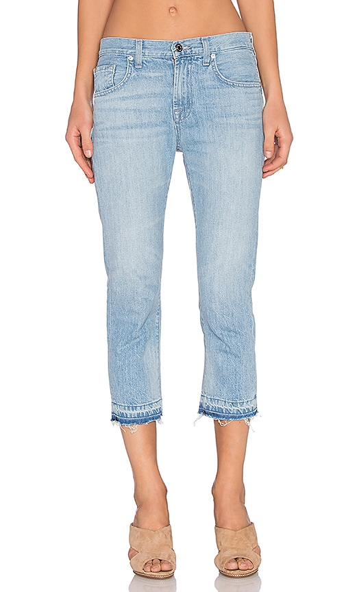 7 For All Mankind Cropped Relaxed Skinny in Cool Cloudy Blue