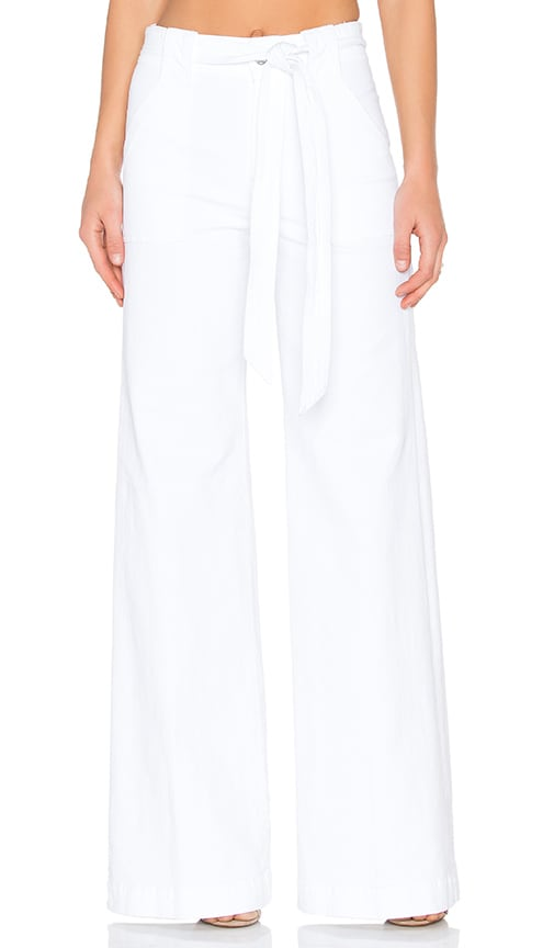 7 For All Mankind Palazzo Pant in White