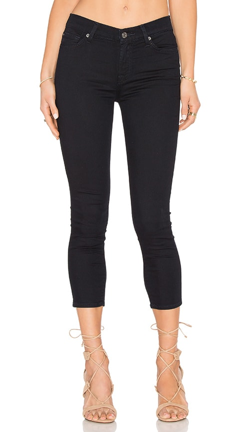 7 For All Mankind The Tonal Squiggle Capri in Featherweight Blackest Blue