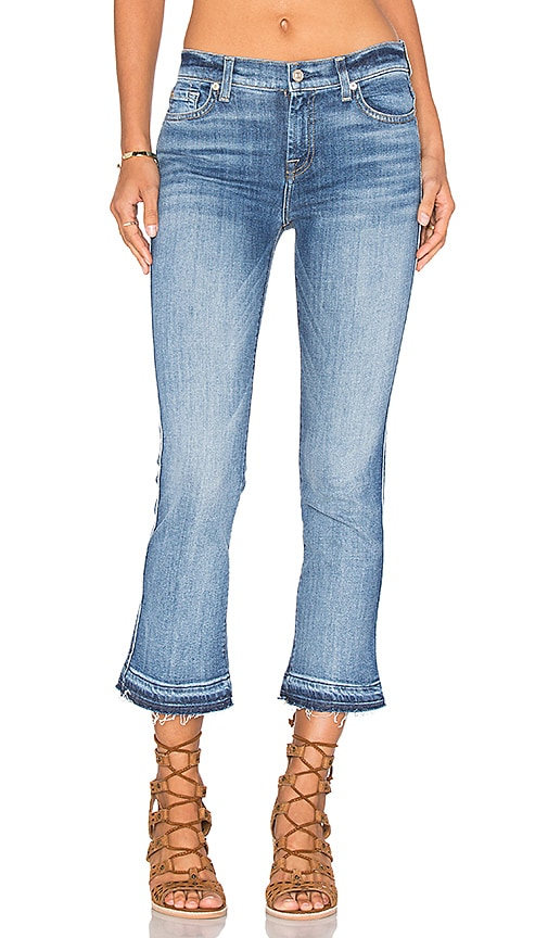 7 For All Mankind Crop Boot in Chealsea Lights