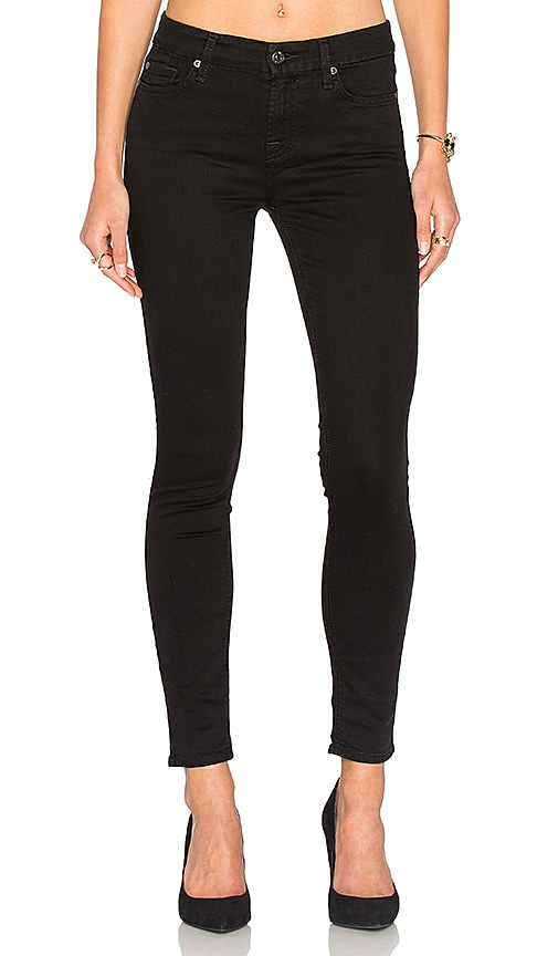 7 For All Mankind Bair Ankle Skinny in Black