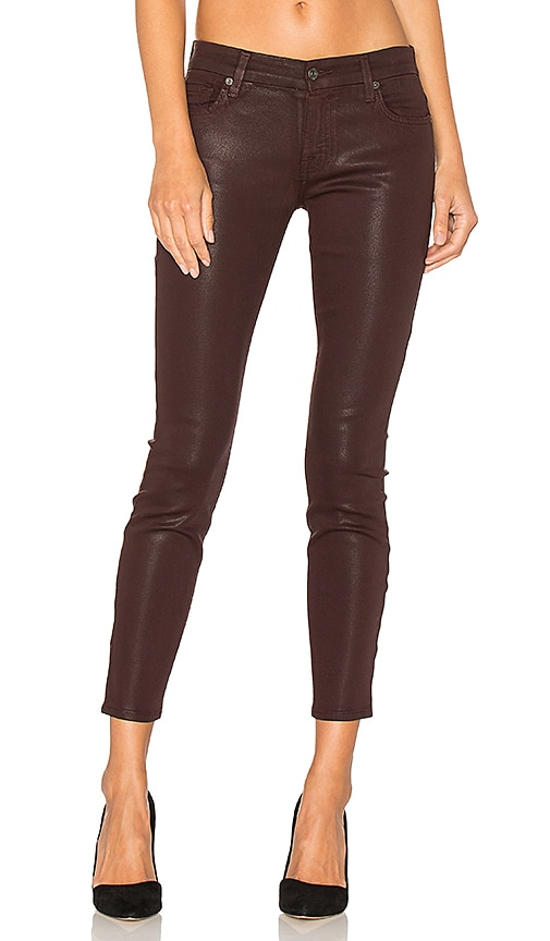 7 For All Mankind The Ankle Skinny in Wine