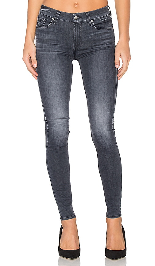 7 For All Mankind The Contour Skinny in Cobblestone