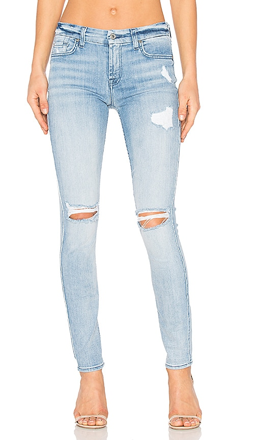 7 For All Mankind The Destroy Ankle Skinny in Bright Bristol 2