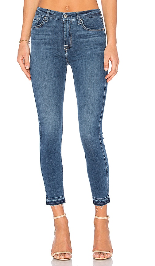 02221ea214993 7 For All Mankind B(Air) The High Waist Ankle Skinny in Sunset   REVOLVE