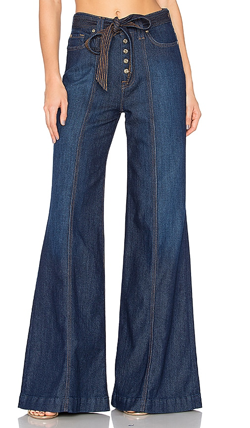 7 For All Mankind Wide Leg Lounge Pant in Luxe Lounge Deep Blue