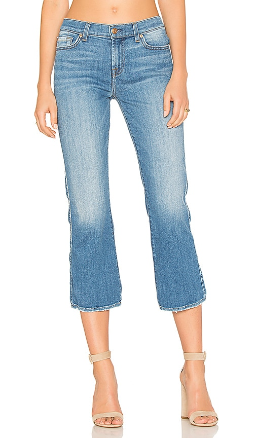 7 For All Mankind Cropped Boot in in Adelaide Bright Blue 3