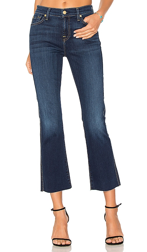 7 For All Mankind Cropped Boot with Frayed Hem in B(AIR) Duchess