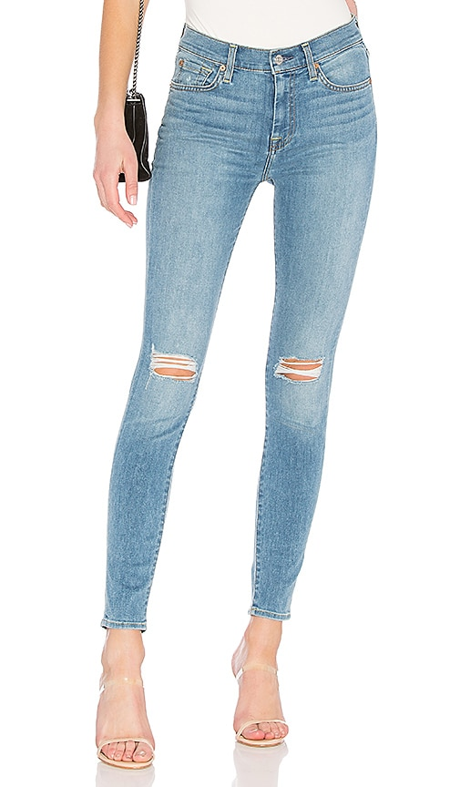 7 For All Mankind HW Skinny Jean in Blue