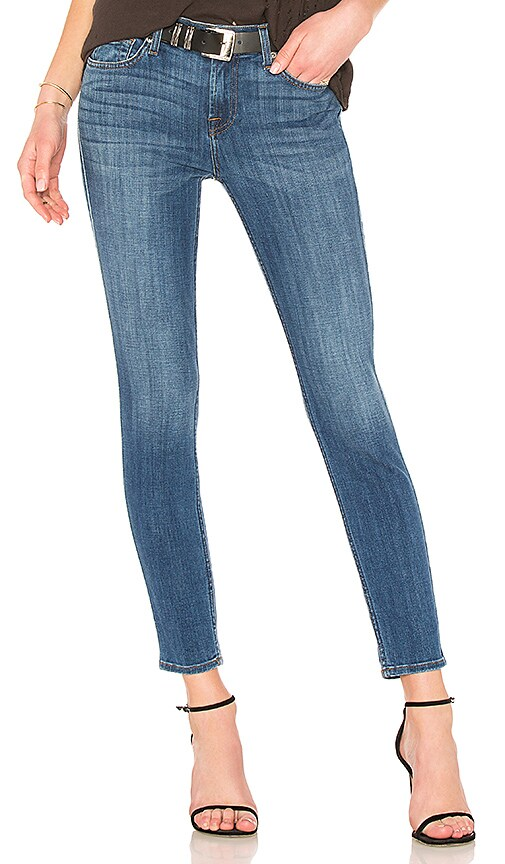 7 For All Mankind Ankle Skinny Jean in Blue