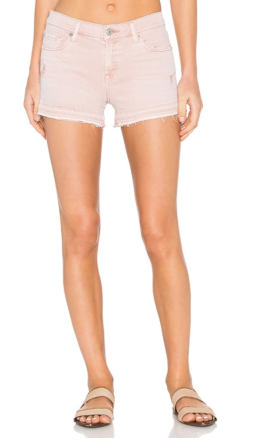 7 For All Mankind Cut Off Short in Pink